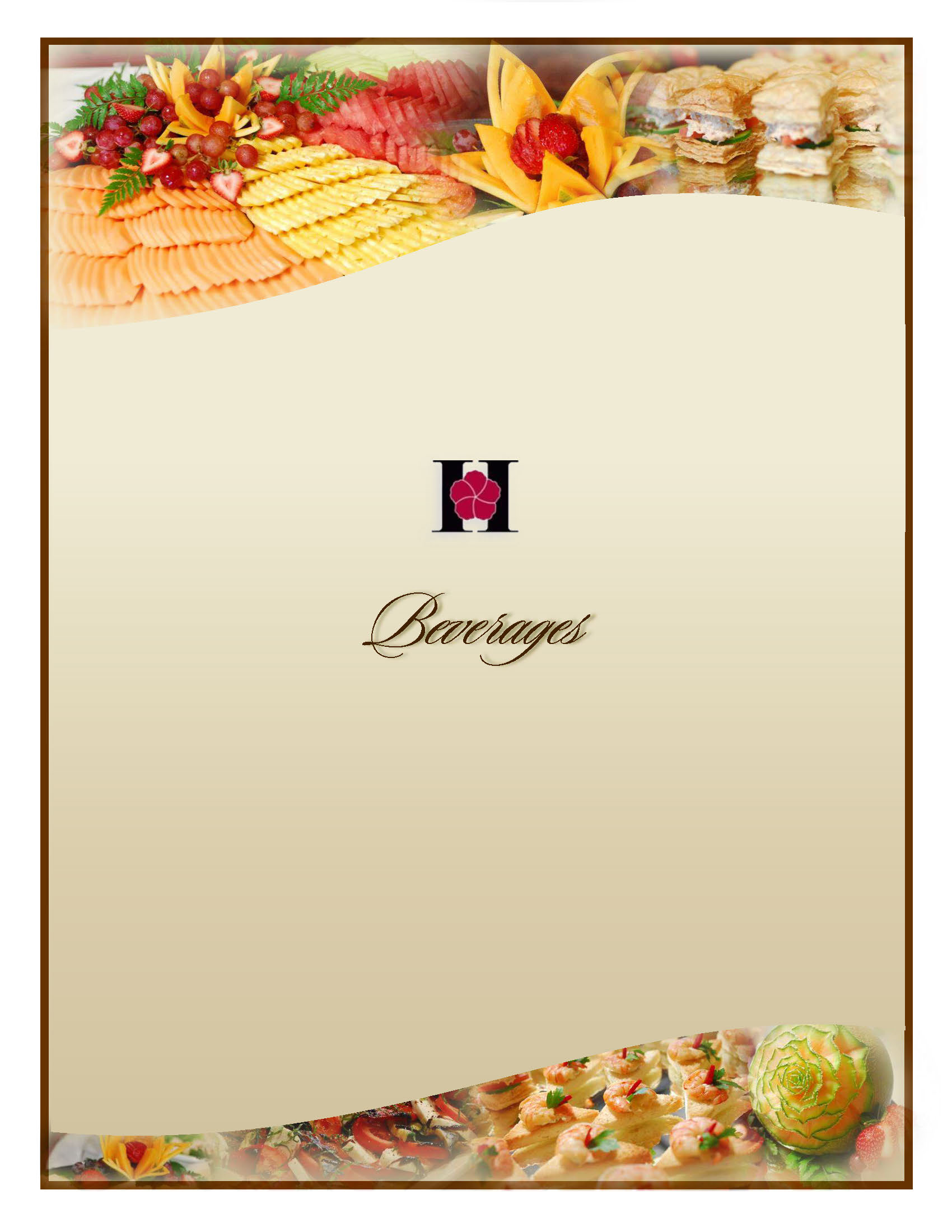 HCCHouseBeverages Menu